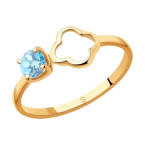 Кольцо из золота с топазом (715598) - фото