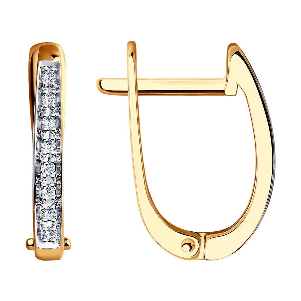 Фото - Классические золотые серьги с бриллиантами SOKOLOV золотые серьги love sokolov