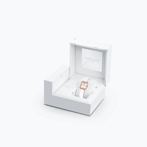 Женские золотые часы (232.01.00.001.01.02.2) - фото №4