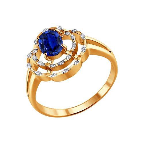 Кольцо SOKOLOV из красного золота с драгоценными камнями