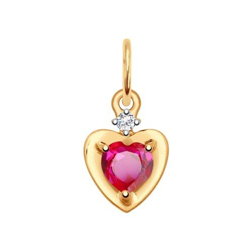 Подвеска из золота в форме сердца