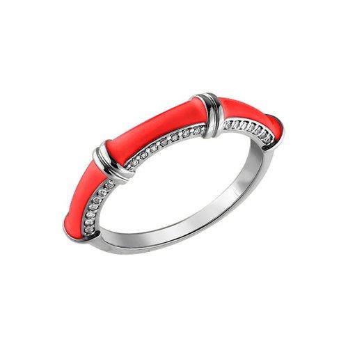 Кольцо SOKOLOV из серебра с эмалью с фианитами с сайнт саенс менуэт