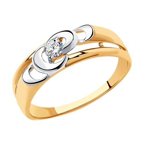 Кольцо из золота (018429) - фото