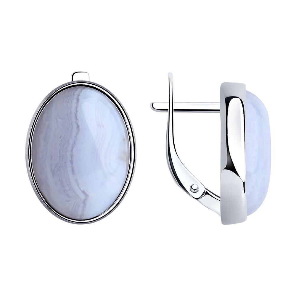 Фото - Серьги SOKOLOV из серебра с агатами jv кольцо с агатами из серебра tr74r ko gag zag wg размер 17