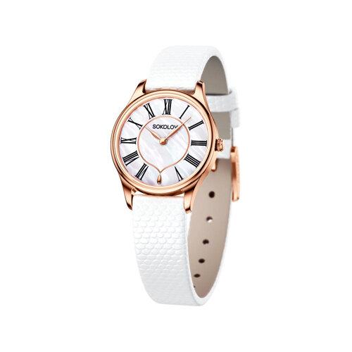 Женские золотые часы (238.01.00.000.01.02.2) - фото