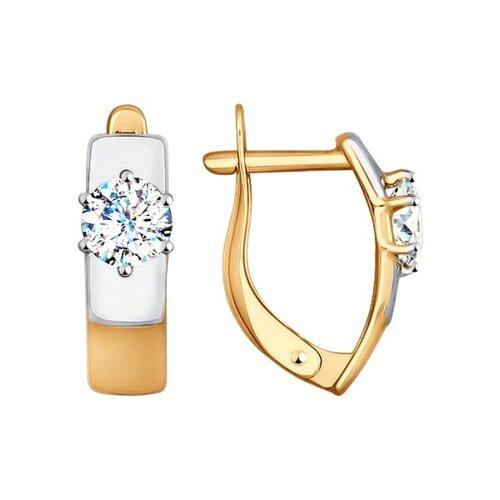 Серьги из золота с фианитами (027436) - фото