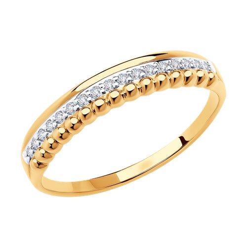 Кольцо из золота с фианитами 018653 sokolov фото