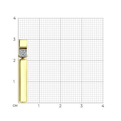 Подвеска из желтого золота с бриллиантами и керамической вставкой 6035071 SOKOLOV фото 2