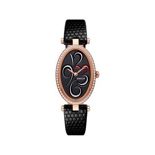 Женские золотые часы (236.01.00.100.04.01.2) - фото №2
