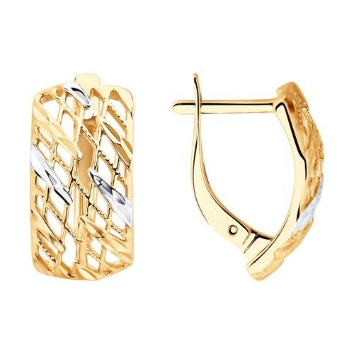 Серьги из золота с алмазной гранью (028181) - фото