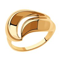 Кольцо из золочёного серебра