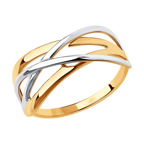 Кольцо из золота (018432) - фото