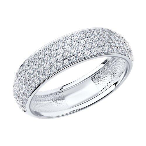 Кольцо из белого золота с бриллиантами 1010256 sokolov фото