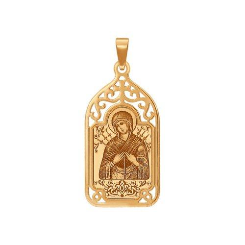 «Семистрельная икона Божьей Матери» SOKOLOV из золота тарелка декоративная lefard икона казанской божьей матери
