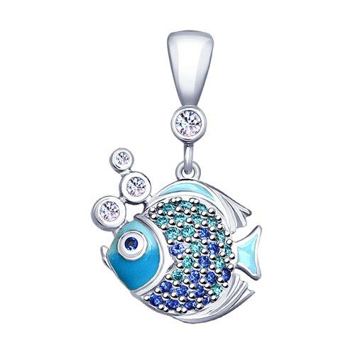 цена на Подвеска SOKOLOV из серебра «Рыбки»