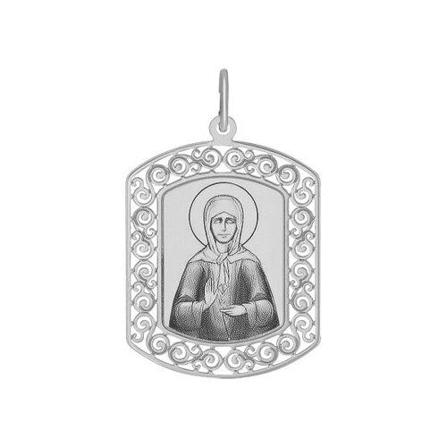 Иконка из серебра с лазерной обработкой (94100210) - фото