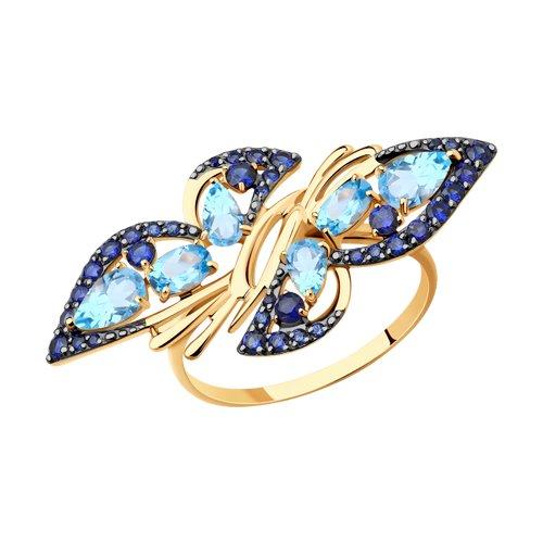 Кольцо SOKOLOV из золота с полудрагоценными вставками золотое кольцо ювелирное изделие 01k625248
