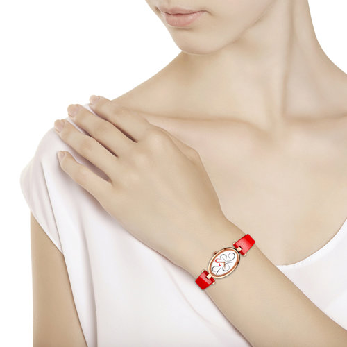 Женские золотые часы (235.01.00.000.03.06.2) - фото №3