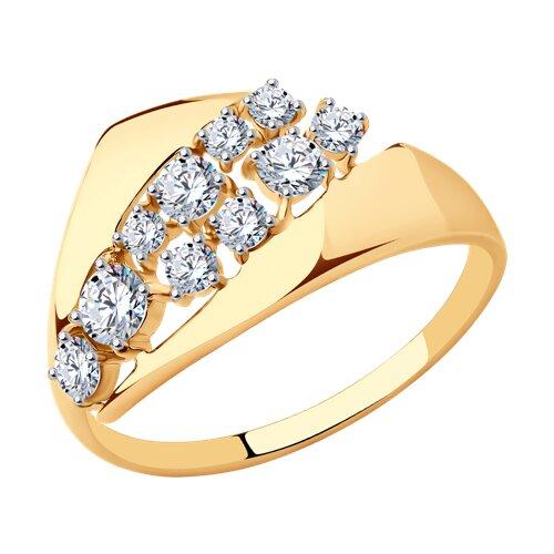 Кольцо из золота с фианитами 017398 SOKOLOV фото