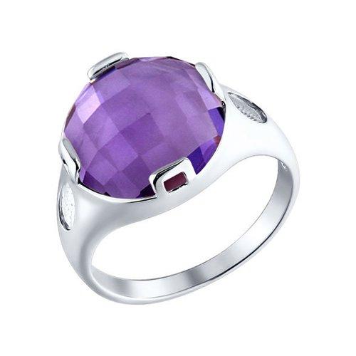 Кольцо c аметистом SOKOLOV ювелирное кольцо sokolov