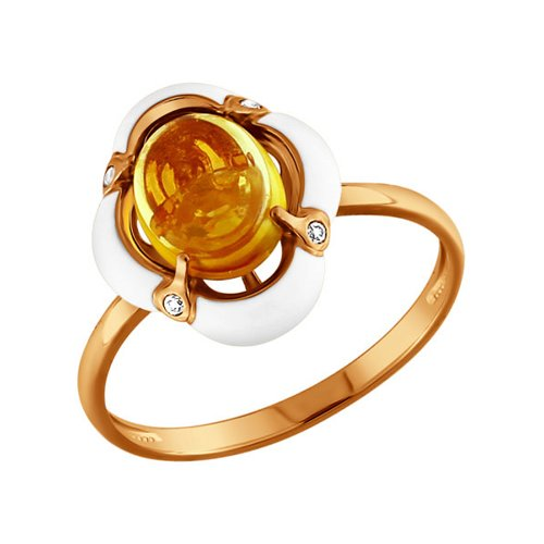Кольцо с цитрином SOKOLOV ювелирное кольцо sokolov