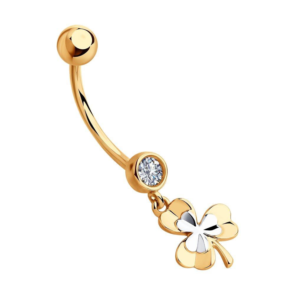 Пирсинг SOKOLOV из золота с фианитом пирсинг sokolov из белого золота с фианитом