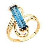 Кольцо из золота с синтетическим ситалом