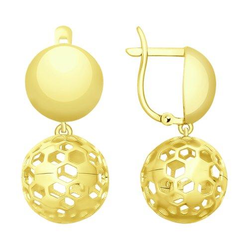Серьги из желтого золота (027739-2) - фото