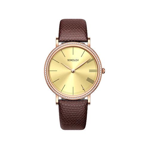 Женские золотые часы (210.01.00.100.03.03.2) - фото №2