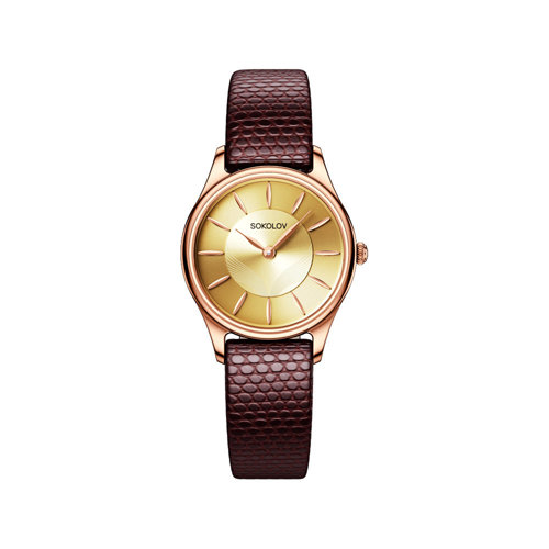 Женские золотые часы (238.01.00.000.05.04.2) - фото №2