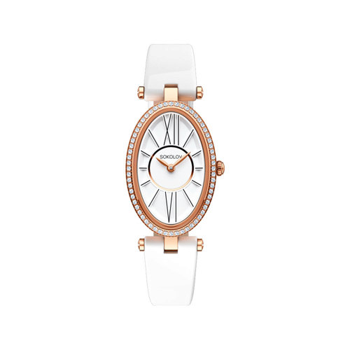 Женские золотые часы (236.01.00.001.01.05.2) - фото №2