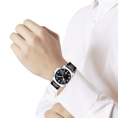 Мужские серебряные часы (150.30.00.000.04.01.3) - фото №4