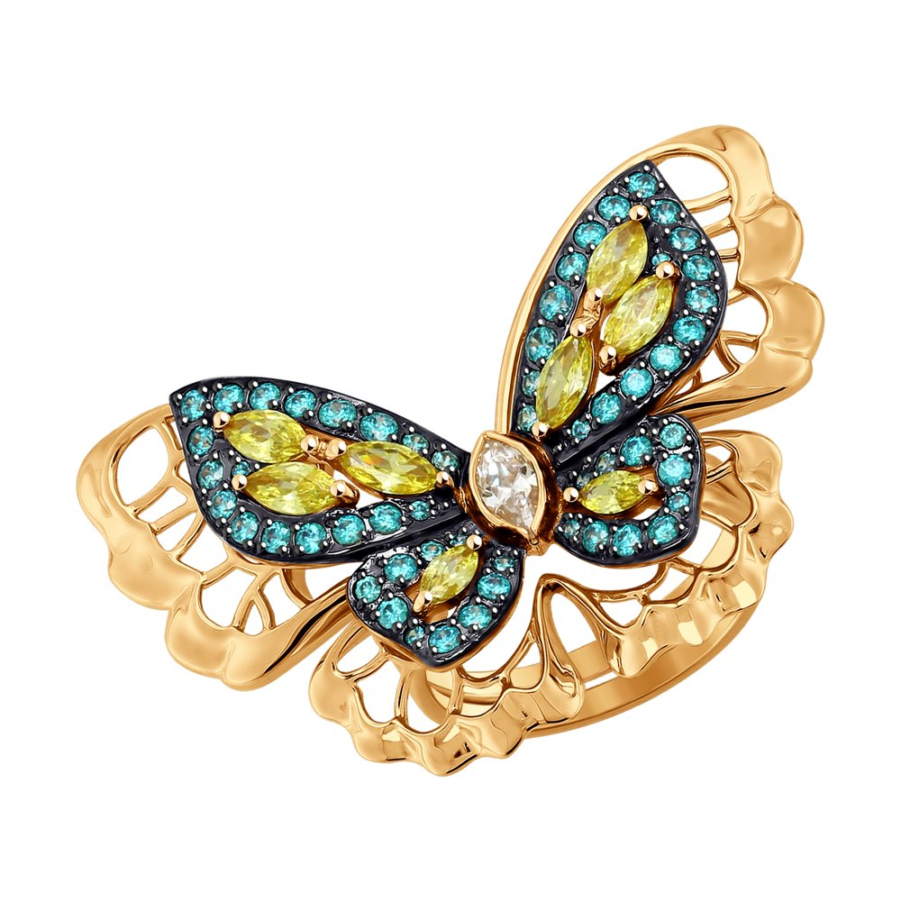 Кольцо с бабочкой SOKOLOV из золота ar 2985 1 ваза с бабочкой юнион