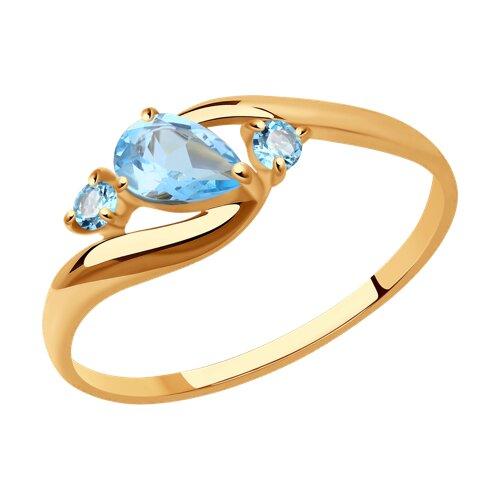 Кольцо из золота с топазами (715080) - фото