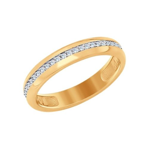 Кольцо SOKOLOV из золота с дорожкой фианитов недорого