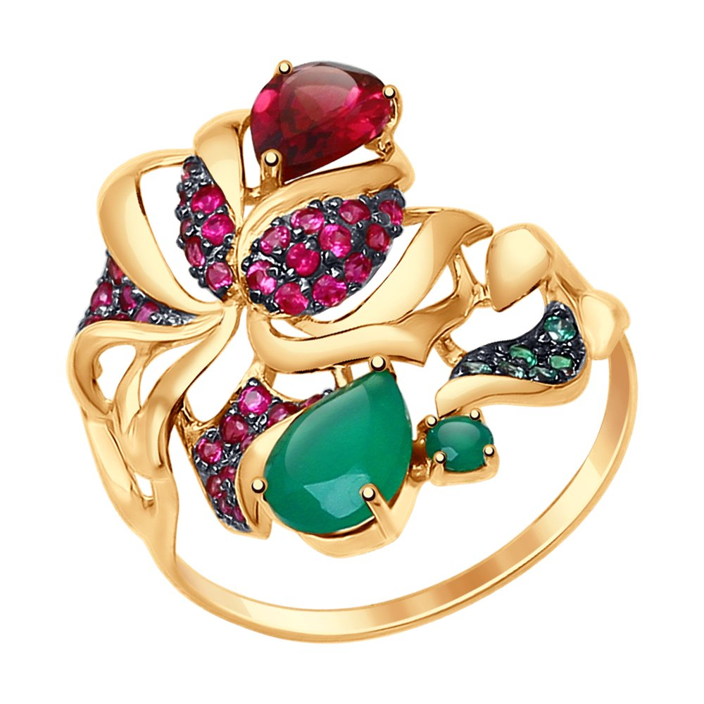 Кольцо SOKOLOV из золота с миксом камней фото