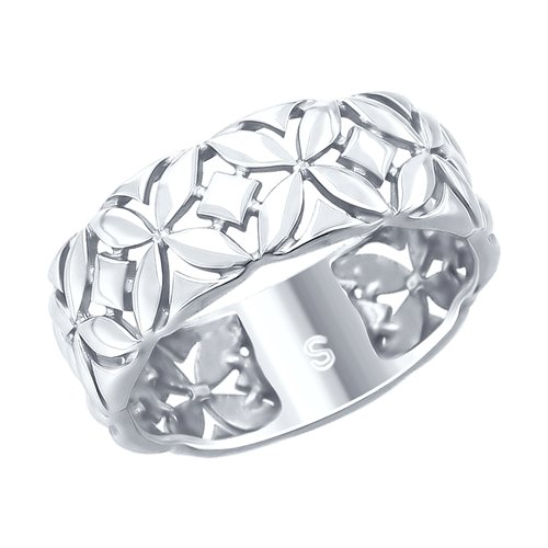 Кольцо из серебра (94012756) - фото