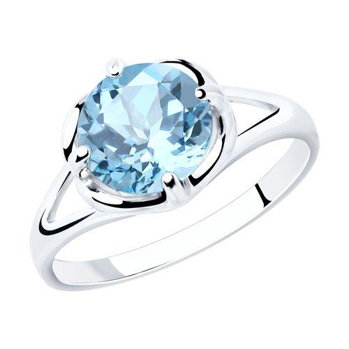 Кольцо из серебра с топазом (92011787) - фото