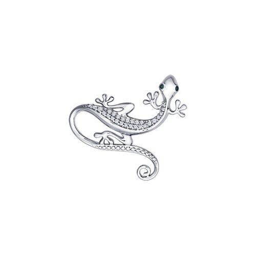 Подвеска «Ящерица» из серебра