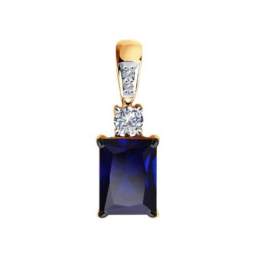 Подвеска из золота с миксом камней