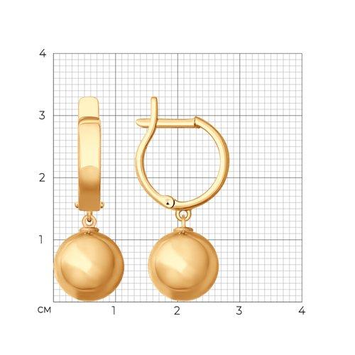 Серьги из золота (027756) - фото №2