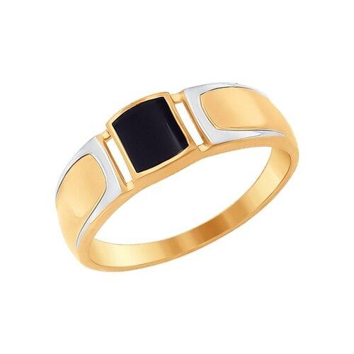 Кольцо из золота с эмалью