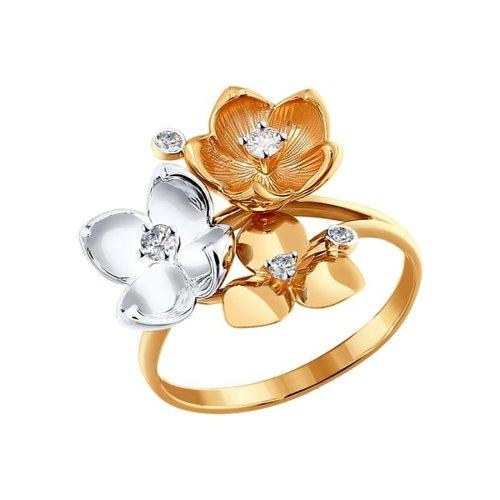 Кольцо SOKOLOV из золота «Букет цветов»