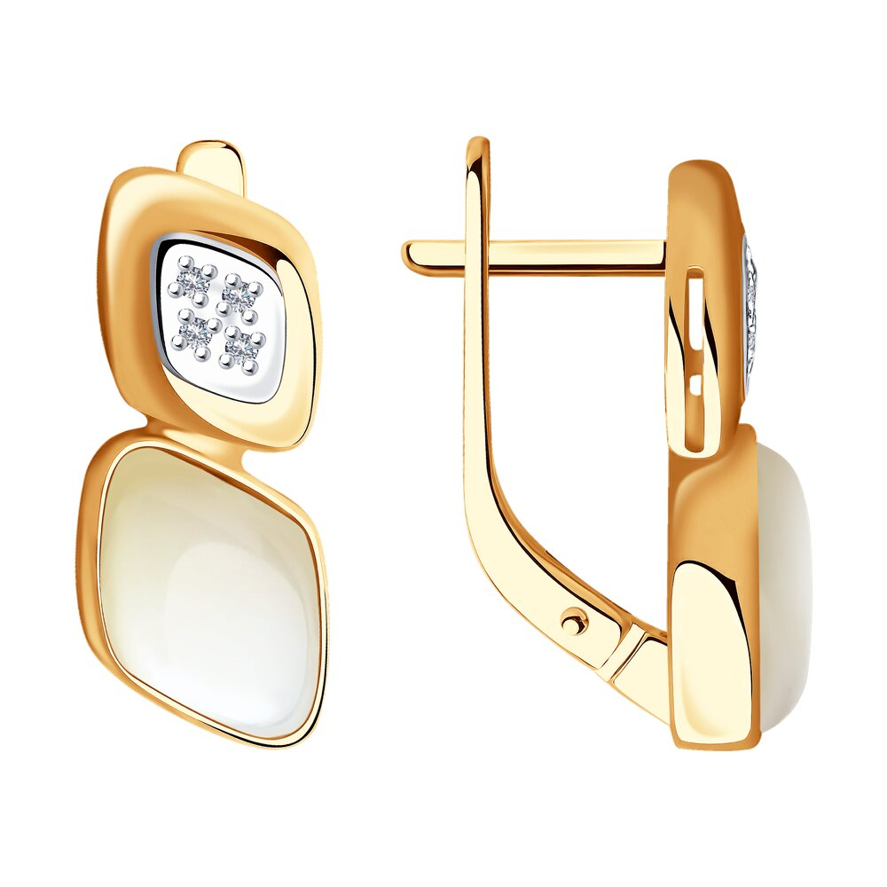 Серьги SOKOLOV из золота с бриллиантами фото