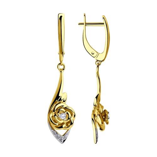 Серьги из желтого золота (028275-2) - фото