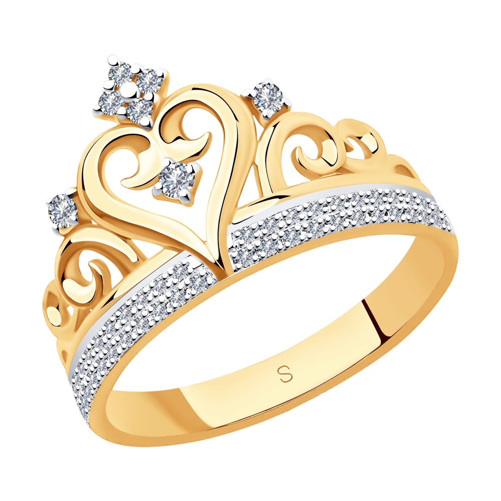 Кольцо SOKOLOV из золота в виде короны недорого