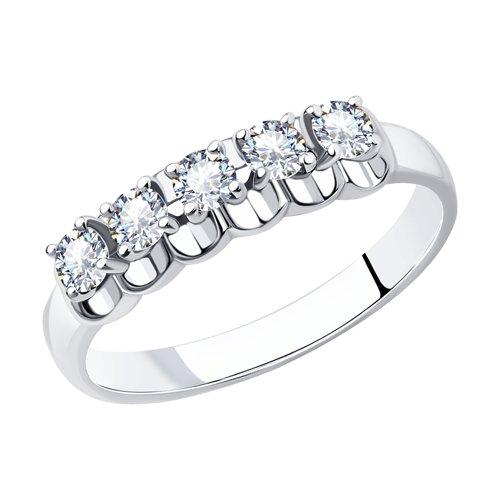 Кольцо из белого золота с бриллиантами (1011778) - фото
