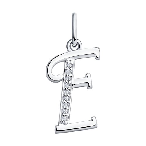 Кулон буква «Е»