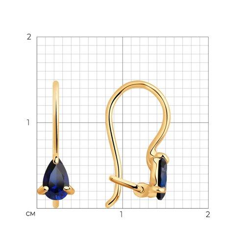 Серьги из золота с корундами 727424 SOKOLOV фото 2