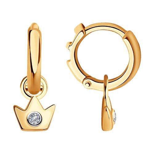 Серьги из золота с бриллиантами (1021523) - фото